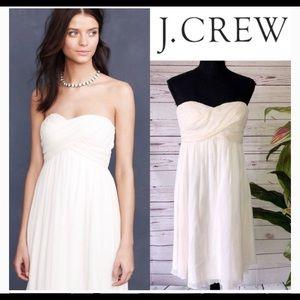 NWT J. Crew Taryn crepe strapless dress Ivory